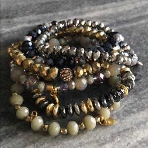 Grey/purple/gold Erimish Stack
